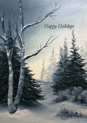 Painting - Twilight - Happy Holidays by Peggy King