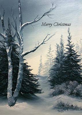 Painting - Twilight - Merry Christmas by Peggy King