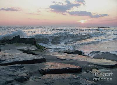 Ocean Painting - Twilight At Cape May In October by Eric  Schiabor