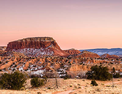Twilight At Ghost Ranch In New Mexico Print by Ellie Teramoto