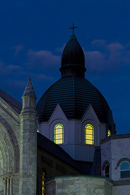 Photograph - Twilight At Sacred Heart Catholic Church by Ed Gleichman