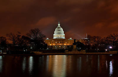 Twilight At The Capitol Art Print