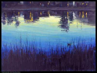 Painting - Twilight At The Creek by Diana Moses Botkin