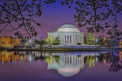 Twilight At The Thomas Jefferson Memorial  Art Print by Susan Candelario