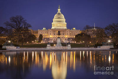 Photograph - Twilight At Us Capitol by Brian Jannsen