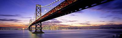 Twilight, Bay Bridge, San Francisco Art Print
