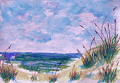 Painting - Twilight Beach by Donna Proctor