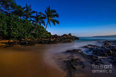 Motion Star Photograph - Twilight Beach by Jamie Pham