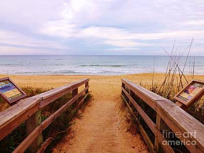 Twilight Beach Walk Art Print