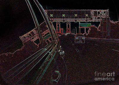 Photograph - Twilight Bridge. Mirror Reflections Series. by Ausra Huntington nee Paulauskaite