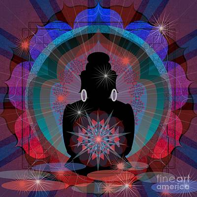 Digital Art - Twilight Buddha 2014 by Kathryn Strick