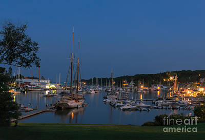 Photograph - Twilight Camden Harbor by Sharon Seaward