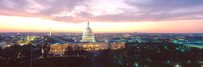 Twilight, Capitol Building, Washington Art Print by Panoramic Images