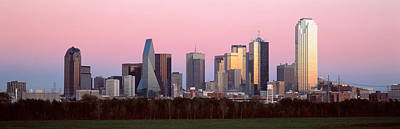 Highrise Building Photograph - Twilight, Dallas, Texas, Usa by Panoramic Images