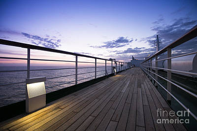 Photograph - Twilight Deck by Anne Gilbert