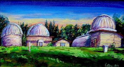 Painting - Twilight Domes by Les Leffingwell