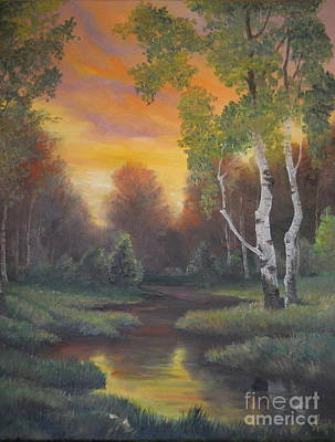 Painting - Twilight Fall  by Sorin Apostolescu