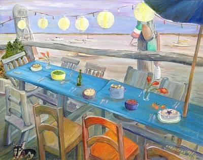 Bayside Painting - Twilight Feast by Andrea Barauskas
