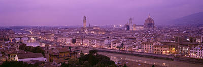 Twilight, Florence, Italy Art Print by Panoramic Images