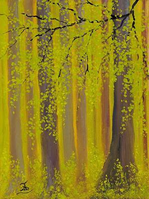Painting - Twilight Forest 2 by Flo Markowitz