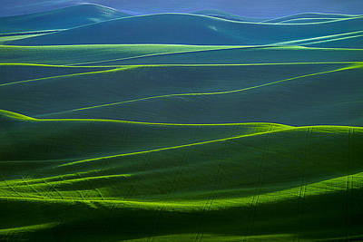 Twilight Hills Of The Palouse Art Print