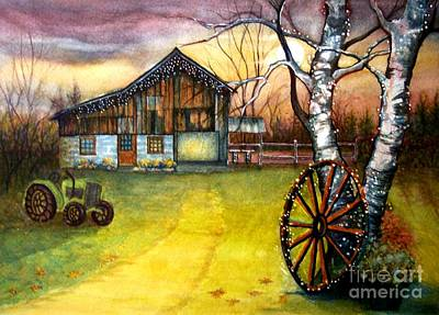 Autumn In The Country Painting - Twilight Hour by Janine Riley