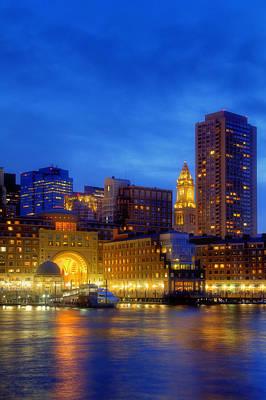 Boston Financial District Photograph - Twilight In Boston by Joann Vitali