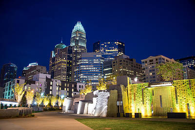 Charlotte Framed Photograph - Twilight In Charlotte by Serge Skiba