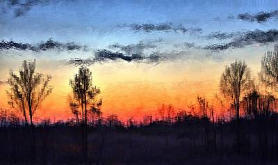 Mixed Media - Twilight In Jackson by Terence Morrissey