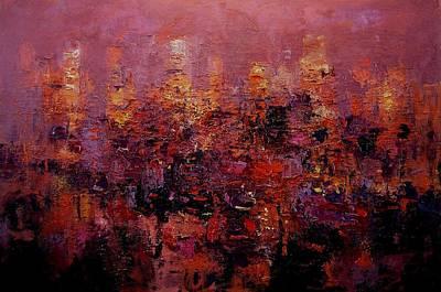 Twilight In L A Print by R W Goetting