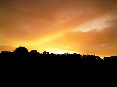 Art Print featuring the photograph Twilight In Orange by Carlee Ojeda