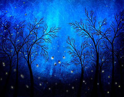 Sapphire Wall Art - Painting - Twilight by Jaime Best