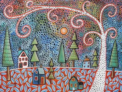 Modern Folk Art Painting - Twilight by Karla Gerard