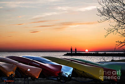 Photograph - Twilight Kayaks by Barbara McMahon
