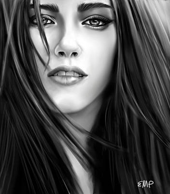 Twilight-kristen Stewart Art Print by Lisa Pence