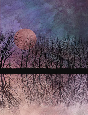 Digital Art - Twilight Moon  by Ann Powell