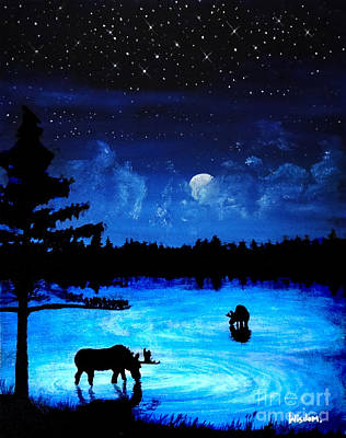Twilight Moose Art Print by Tylir Wisdom