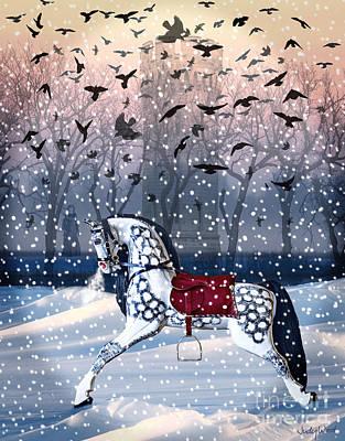 Judy Wood Digital Art - Twilight Mystery-winter by Judy Wood