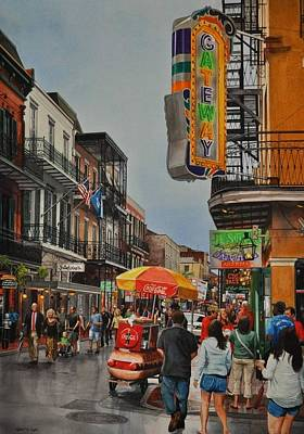 Painting - Twilight On Bourbon by Robert W Cook