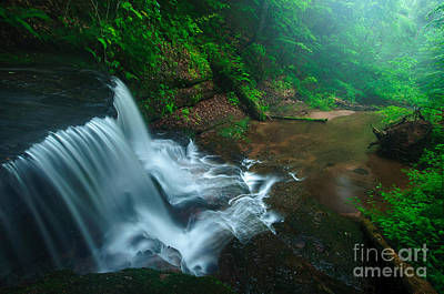 Connecticut Photograph - Twilight On Spruce Glen Falls by JG Coleman