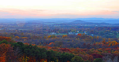 Photograph - Twilight On The Blue Ridge by Lynn Bauer