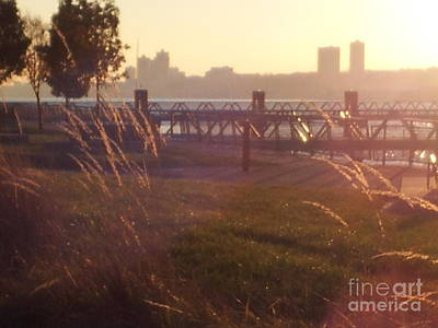 Photograph - Twilight On The Hudson by Brianna Kelly