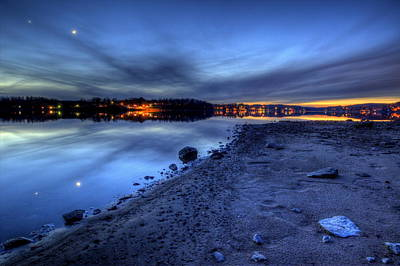 Photograph - Twilight On The Lake by David Dufresne