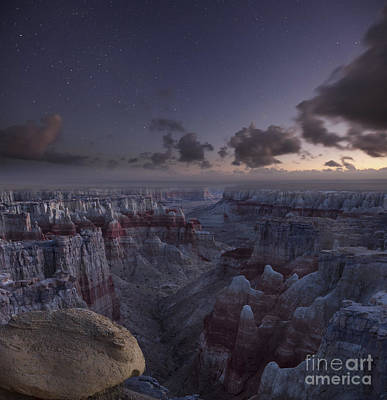 Photograph - Twilight Over Coal Mine Canyon by Keith Kapple