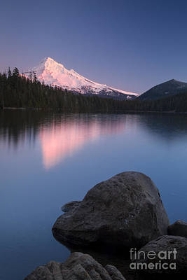 Photograph - Twilight Over Mt Hood by Brian Jannsen