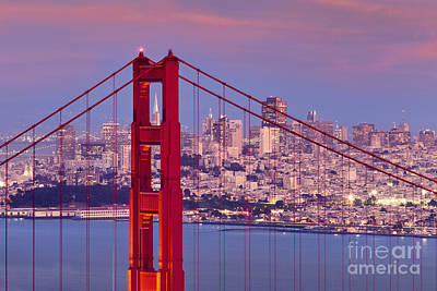 Photograph - Twilight Over San Francisco by Brian Jannsen