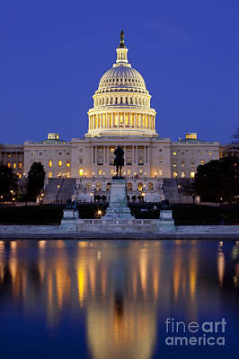 Photograph - Twilight Over Us Capitol by Brian Jannsen