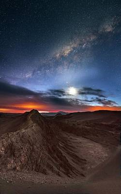 Twilight Over Valle De La Luna Art Print by Babak Tafreshi