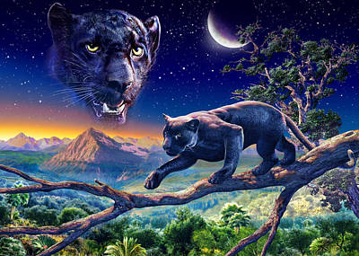 Black Panther Photograph - Twilight Panther by Adrian Chesterman