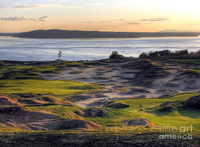 Golf Course Photograph - Twilight Paradise - Chambers Bay Golf Course by Chris Anderson